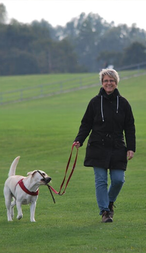Women-walking-with-dog